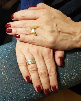 Elisabetta's custom gold rings from Florence